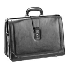 Signature Leather Laptop Briefcase