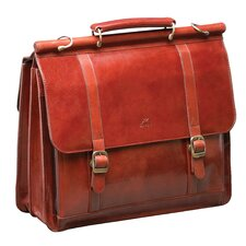 <strong>Mancini</strong> Signature Leather Laptop Briefcase