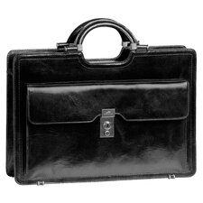 <strong>Mancini</strong> Signature Classic Leather Briefcase