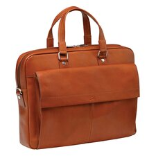 <strong>Mancini</strong> Colombian Slim Leather Laptop Briefcase