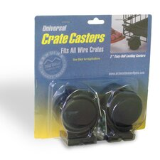 <strong>Midwest Homes For Pets</strong> Universal Crate Casters (2 Pack)
