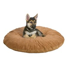 Quiet Time e'Sensuals Embossed Paw Print and Bone Design Round Dog Pillow