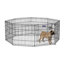 Exercise Pen with Door in Black Finish