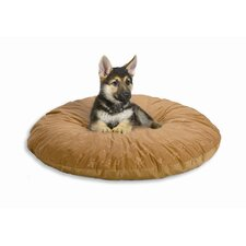 Quiet Time e'Sensuals Embossed Paw Print and Bone Design Round Dog Bed