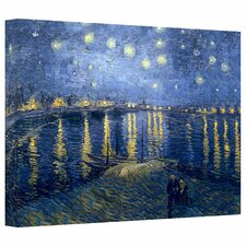'Starry Night over the Rhone' by Vincent van Gogh Painting Print on Canvas