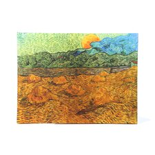 ''Evening Landscape with Rising Moon'' by Vincent Van Gogh Painting Print on Canvas