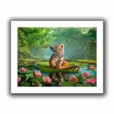 'Tiger Lily' by Jerry Lofaro Canvas Poster