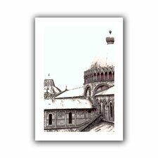 'Daybreak on the Duomo Pisa' by Linda Parker Canvas Poster