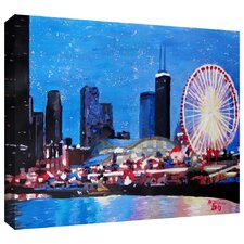 'Chicago Wheel' by Martina and Markus Bleichner Gallery Wrapped on Canvas
