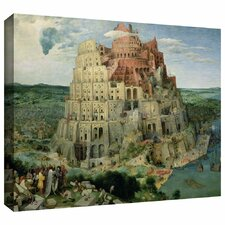'Tower of Babel' by Pieter Bruegel Gallery Wrapped on Canvas