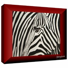 'Zebras Abstract' by Lindsey Janich Gallery Wrapped on Canvas