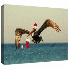 'Christmas Pelican1' by Lindsey Janich Gallery Wrapped on Canvas