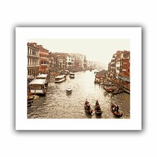 '3 Gondolas - Venice' by Linda Parker Canvas Poster