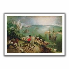 'Landscape with the Fall of Icarus' by Pieter Bruegel Canvas Poster