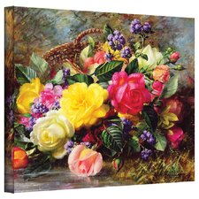 'Roses from a Victorian Garden' by Albert Williams Gallery-Wrapped on Canvas