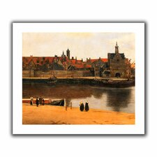 'View of Delft' by Johannes Vermeer Unwrapped on Canvas