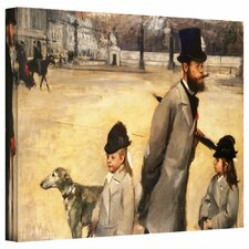 'Place de la Concorde' by Edgar Degas Gallery-Wrapped on Canvas