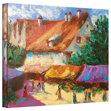 'Rhone Village Market' by Susi Franco Gallery Wrapped on Canvas