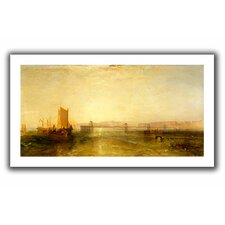 'Brighton from the Sea' by William Turner Unwrapped on Canvas