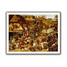 'The Flemish Proverbs' by Pieter Bruegel Unwrapped on Canvas