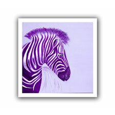 'Zebras Purple' by Lindsey Janich Unwrapped on Canvas