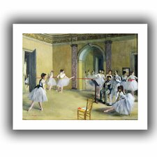 'The Dance Foyer at the Opera on the rue Le Peletier' by Edgar Degas Unwrapped on Canvas