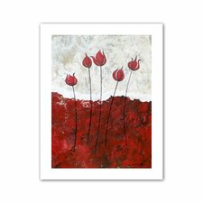 'Hot Blooms III' by Herb Dickinson Painting Print on Canvas
