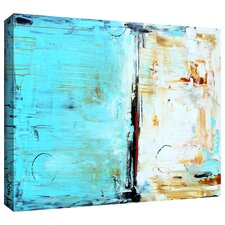 'Abstract in Blue' by Jolina Anthony Painting Print Gallery-Wrapped on Canvas
