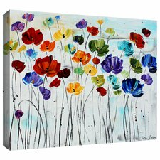 'Lilies' by Jolina Anthony Painting Print Gallery-Wrapped on Canvas