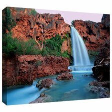 'Havasu Falls Dusk' by Dean Uhlinger Photographic Print Gallery-Wrapped on Canvas