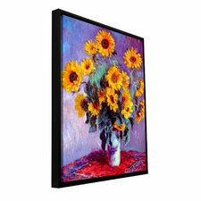 'Sunflowers' by Claude Monet Floater Framed Gallery-Wrapped Canvas Art