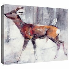 'Roe Buck' by Mark Adlington Painting Print Gallery-Wrapped on Canvas
