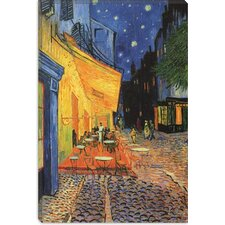 ''The Cafe Terrace on the Place Du Forum Arles'' by Vincent Van Gogh Painting Print on Canvas