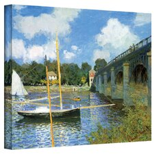 ''The Bridge of Argenteuil'' by Claude Monet Painting Print on Canvas