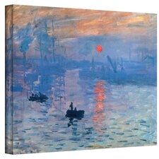 ''Sunrise'' by Claude Monet Painting Print Canvas