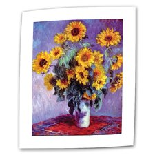"""Sunflowers"" by Claude Monet Painting Print on Canvas"