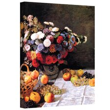 ''Flowers and Fruit'' by Claude Monet Original Painting on Canvas
