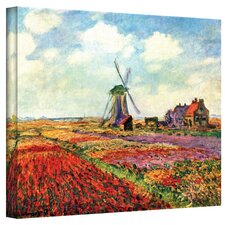 'Windmill' by Claude Monet Painting Print on Canvas