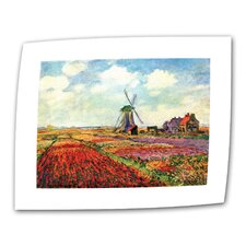 """Windmill"" by Claude Monet Painting Print on Canvas"