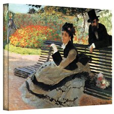 ''Park Bench'' by Claude Monet Canvas Painting Print