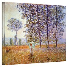 ''Poplars'' by Claude Monet Canvas Painting Print