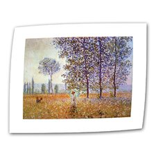 """Poplars"" by Claude Monet Painting Print on Canvas"
