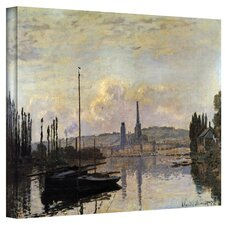''Dock'' by Claude Monet Painting Print on Canvas