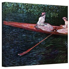 ''Canoe'' by Claude Monet Painting Print on Canvas