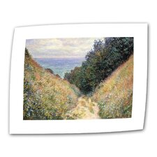 """Footpath"" by Claude Monet Painting Print on Canvas"