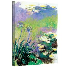 ''Agapanthus'' by Claude Monet Painting Print on Canvas