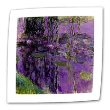 """Lavender Water Lillies"" by Claude Monet Painting Print on Canvas"