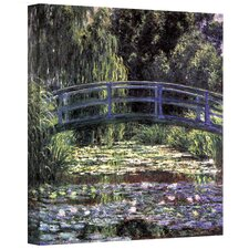 ''Bridge at Sea Rose Pond'' by Claude Monet Canvas Painting Print