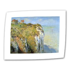 """Cliffs"" by Claude Monet Painting Print on Canvas"