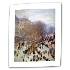 """Boulevard Capucines"" by Claude Monet Painting Print on Canvas"